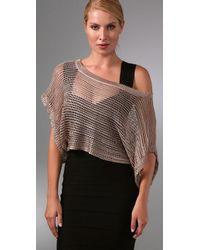 Foley + Corinna - Metallic Crochet Top - Lyst