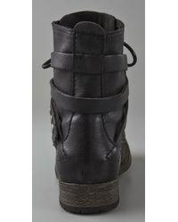 H by Hudson - Black Alba Combat Boots - Lyst
