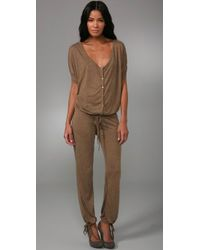 Indah | Brown Catalina Dolman Jumpsuit | Lyst