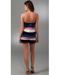 Marc By Marc Jacobs - Multicolor Striped Velour Romper Cover Up - Lyst