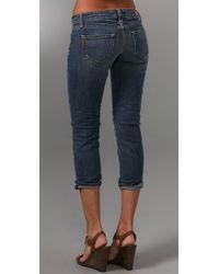 PAIGE | Blue Venice Cropped Jeans | Lyst
