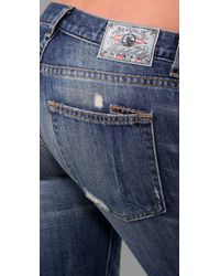 PRPS - Blue Camaro Repair Straight Leg Jeans - Lyst