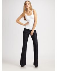 7 For All Mankind | Black Ginger Wide-leg Jeans | Lyst