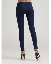 7 For All Mankind - Black Gwenevere Skinny Jeans - Lyst
