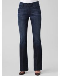 7 For All Mankind | Black High-waist Bootcut Jeans | Lyst