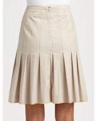 Akris Punto | Black Stitched Yoke Pleated Skirt | Lyst