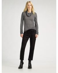 Ann Demeulemeester | Black - Cropped Trousers - Women - Cotton/rayon - 38 | Lyst