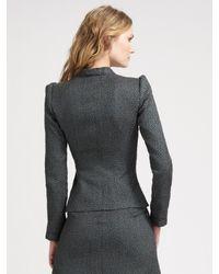 Armani - Gray Dotted Jacquard Skirt - Lyst