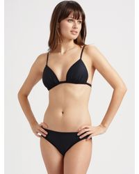 Badgley Mischka - Black Two-in-one Tankini Top - Lyst