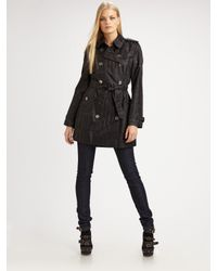 Burberry Brit | Black Buckingham Check Raincoat | Lyst