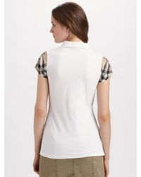 Burberry Brit - Green Cotton Pencil Skirt - Lyst