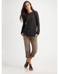 Citizens of Humanity | Black Twill Cotton Pants | Lyst