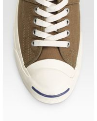 Converse - Green Jack Purcell Johnny Low-top Sneakers for Men - Lyst