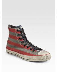 Converse | Red John Varvatos Painted Canvas High-tops for Men | Lyst