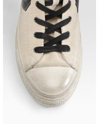 Converse - White John Varvatos Star Player Mid-top Sneakers/tan for Men - Lyst