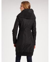 Creenstone - Black Double-breasted Puffer Coat - Lyst