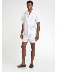 Derek Rose | Blue Stowe Short Pajamas Set for Men | Lyst