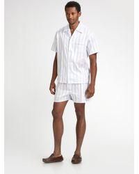 Derek Rose - Blue Stowe Short Pajamas Set for Men - Lyst