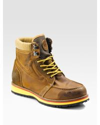DIESEL - Yellow Catch 78 Awol Ankle Boots for Men - Lyst
