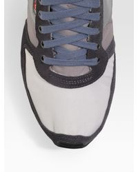 DIESEL   Gray Faded Jersey Polo for Men   Lyst