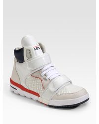 DIESEL | White Deco Impression Strap High-top Sneakers for Men | Lyst