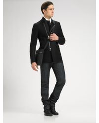 Dior Homme | Black Asymmetric Blazer for Men | Lyst