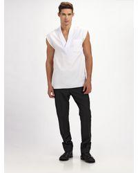 Dior Homme | White Sleeveless V-neck Tee for Men | Lyst