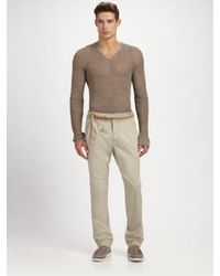 Dolce & Gabbana | Natural Satin Pants for Men | Lyst