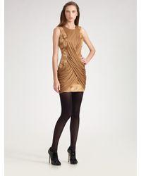 Doo. Ri   Natural Draped Shift Mini Dress   Lyst