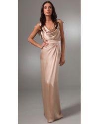 DSquared²   Natural Chloecelin Long Dress   Lyst