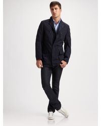 Elie Tahari | Blue Four-pocket Jacket for Men | Lyst