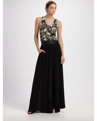 Elizabeth and James - Black Long Pleated Taylor Skirt - Lyst