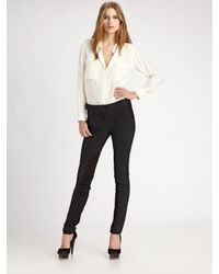 Elizabeth and James - Gray Suede Panel Pants - Lyst