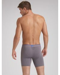 Equmen - Gray Precision Long Boxer Briefs for Men - Lyst