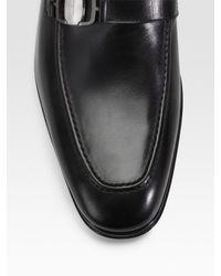 Ferragamo | Black Francisco Loafers for Men | Lyst