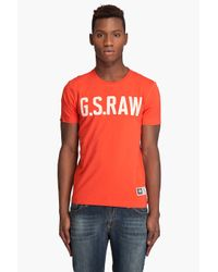 G-Star RAW | Orange Face R T-shirt for Men | Lyst