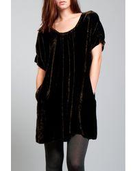Giada Forte | Black Silk Velvet Dress | Lyst