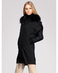Gucci - Black Fur-trimmed Two-piece Windbreaker - Lyst