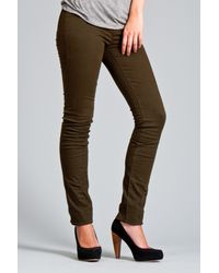"J Brand | Green 12"" Pencil Leg in West Point 