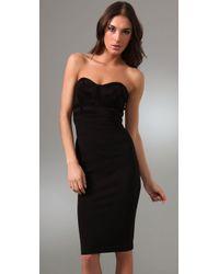 Kimberly Ovitz | Black Hendel Strapless Suede Bustier Dress | Lyst