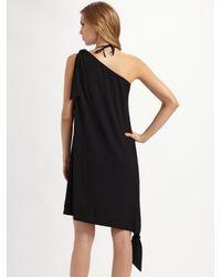 La Perla - Black Silk One-shoulder Coverup - Lyst