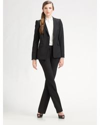 Lavia18 | Black Stretch Wool Blazer | Lyst