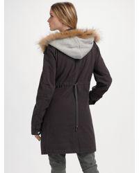 Larok - Gray Rabbit Fur Vest & Parka - Lyst
