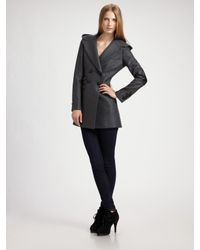 Mackage | Gray Double-breasted Three-quarter Coat | Lyst