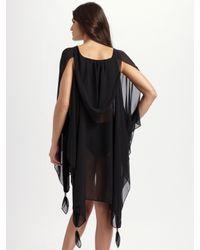 Mara Hoffman - Black Hooded Silk Chiffon Coverup - Lyst