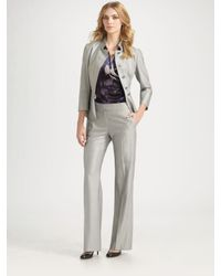 Max Mara - Gray Wide-leg Pants - Lyst