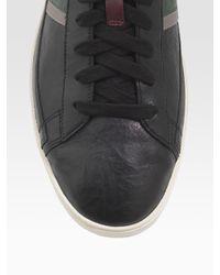 Paul Smith - Black Cochrane Leather Sneakers for Men - Lyst