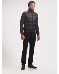 Prada - Black Nylon Vest for Men - Lyst
