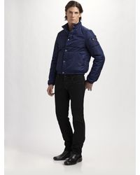 Prada | Blue Nylon Puffer Jacket for Men | Lyst