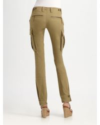 Ralph Lauren Blue Label - Green Skinny Stretch Cargo Pants - Lyst